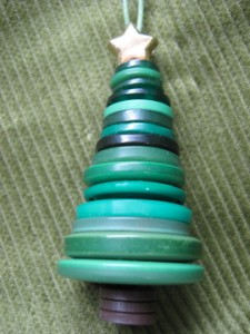 Easy to Make Button tree ornament