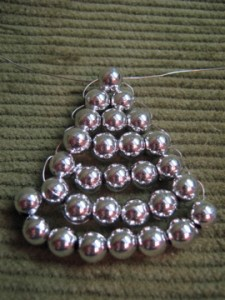 My bead ornament is looking good so far.