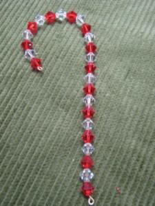 Swarovski Beaded Candy Cane Ornament