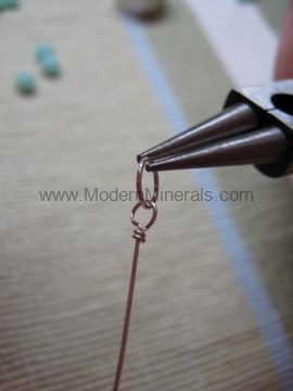 how to make a wire wrapped loop. Step 8