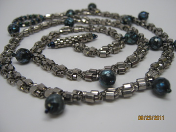 St Petersburg Chain with faceted pearls and a simple beaded toggle clasp